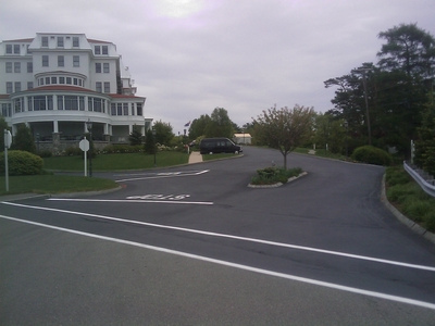 The Wentworth's lot was transformed and protected after a new seal and line-striping.